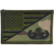 Explosive Ordnance Disposal BASIC EOD USA Flag 2.25 x 3.5 inch Patch