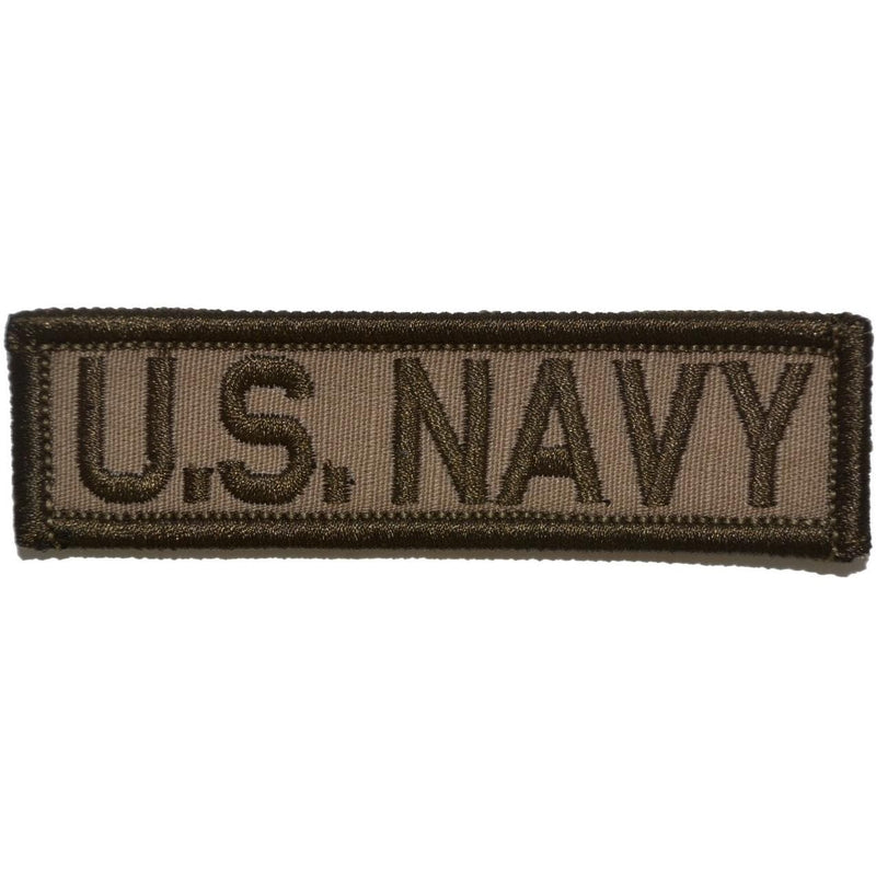 Tactical Gear Junkie Patches Coyote Brown U.S. Navy - 1x3.75 Patch