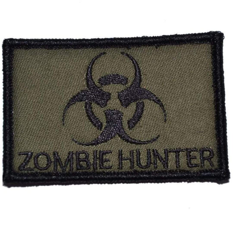 Tactical Gear Junkie Patches Olive Drab Zombie Hunter Biohazard - 2x3 Patch