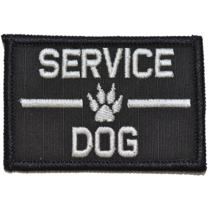 Tactical Gear Junkie Patches Black Service Dog, K9 Dog Patch - 2x3 Patch