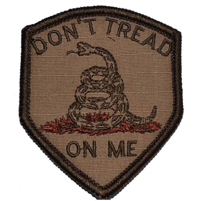 Tactical Gear Junkie Patches Coyote Brown Don't Tread On Me Gadsden Snake - 2.5x3 Shield Patch