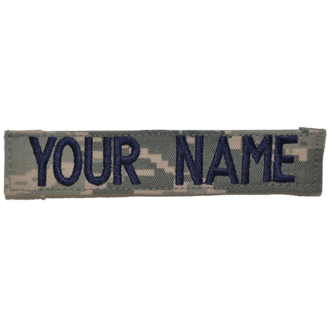 Single Custom Name Tape w/ Hook Fastener Backing - ABU