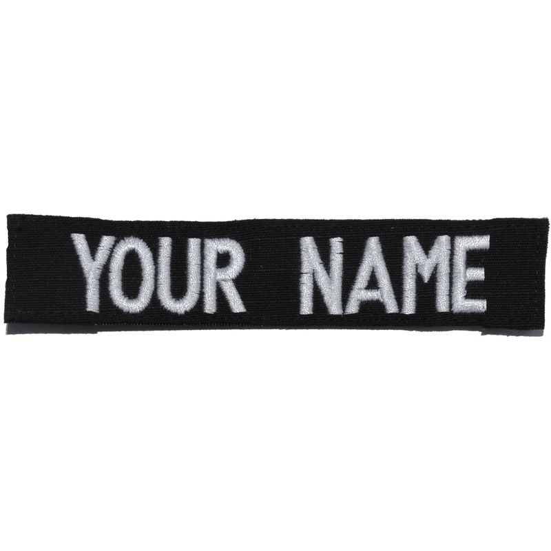 Tactical Gear Junkie Name Tapes RipStop Custom Name Tape - Black