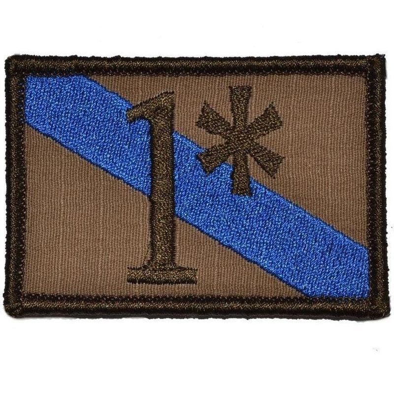 Tactical Gear Junkie Patches Coyote Brown 1* One Ass to Risk Thin Blue Line Police - 2x3 Patch