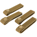 "Condor Tactical Gear Coyote Brown Condor Modular Web Straps (4"") Pack of 4"