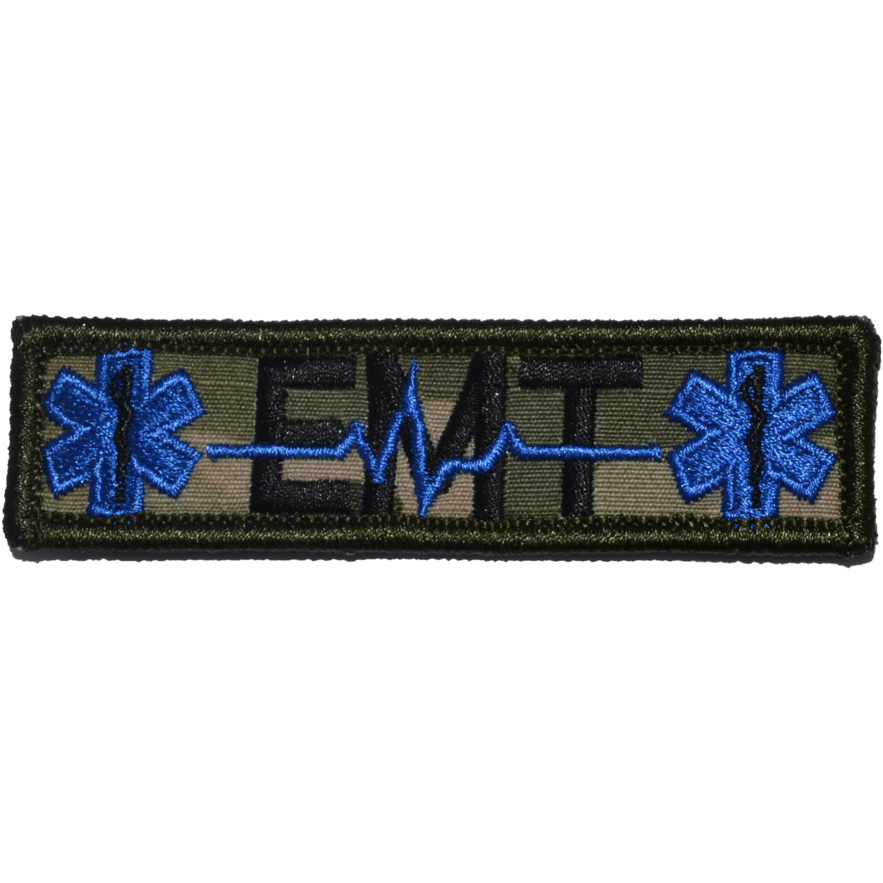 Tactical Gear Junkie Patches MultiCam EMT Heartbeat and Stars of Life - 1x3.75 Patch