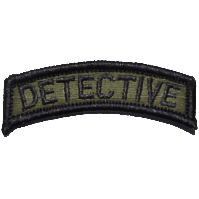 Tactical Gear Junkie Patches Olive Drab Detective Tab Patch