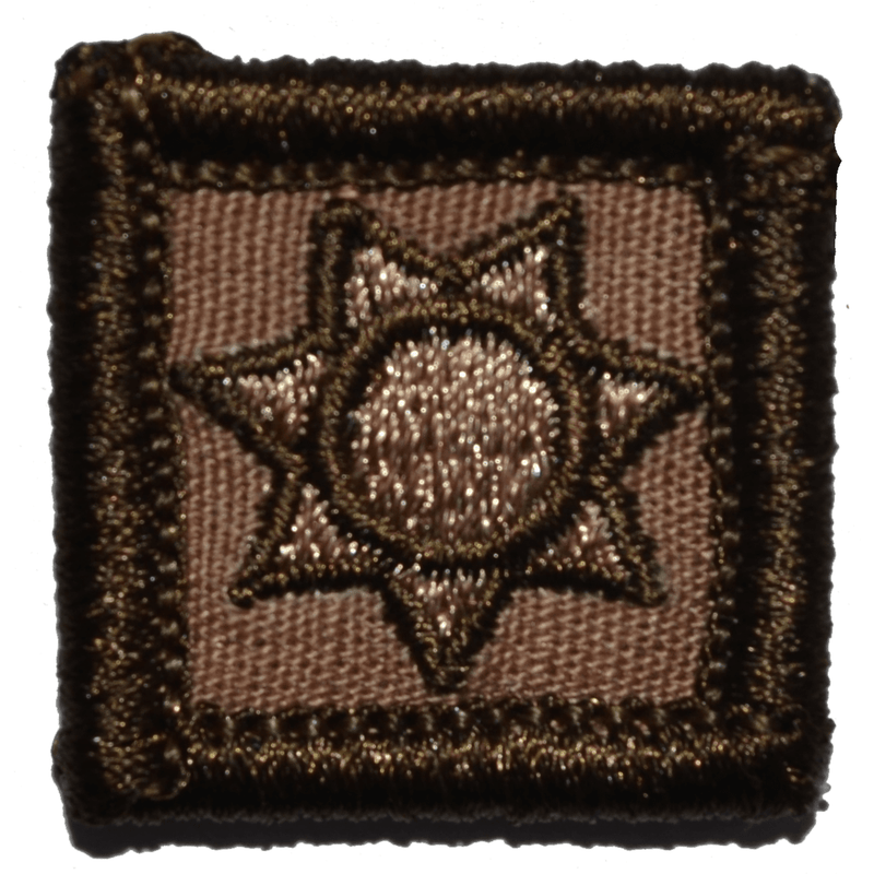 Tactical Gear Junkie Patches Coyote Brown Police Shield Badge - 1x1 Patch