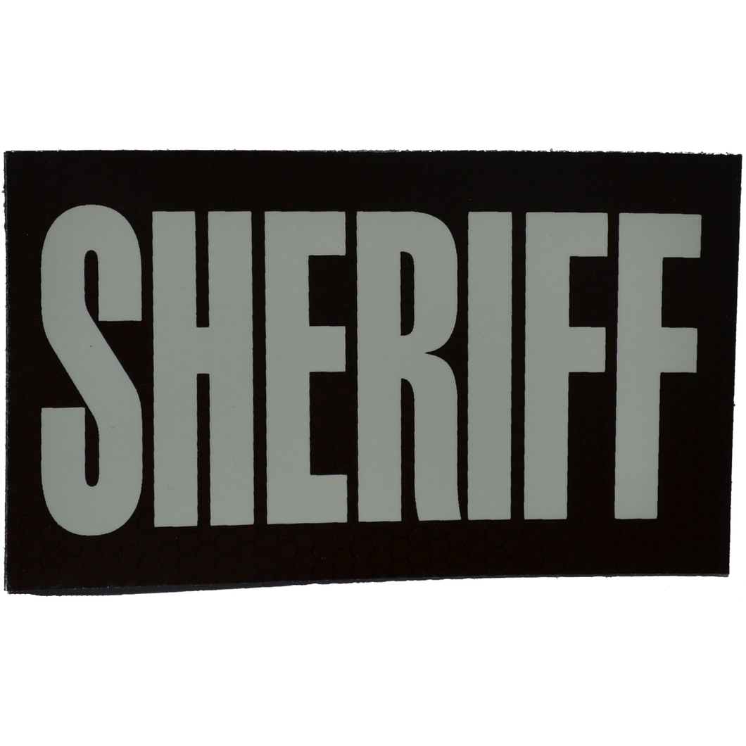 IR (Infrared) Patch, SHERIFF 3 in x 5 in (White Graphic)