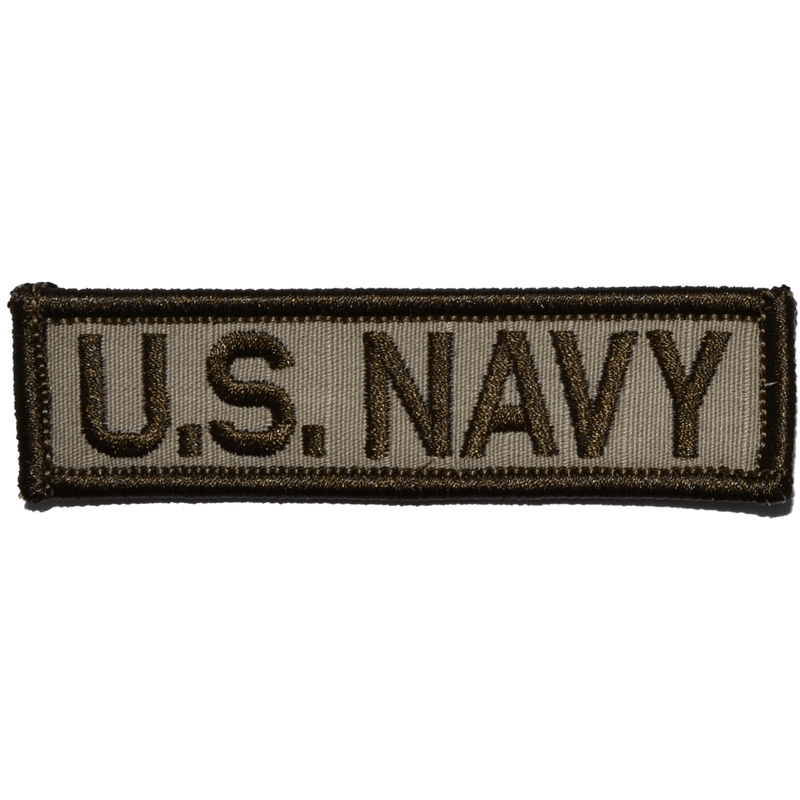 Tactical Gear Junkie Patches Desert Sand U.S. Navy - 1x3.75 Patch