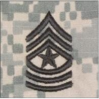 Tactical Gear Junkie Rank SGM Army Rank - SEW ON - ACU