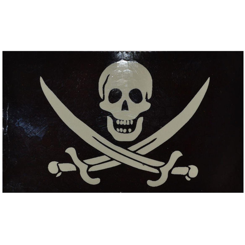 WarriorGlo Patches IR (Infrared) Pirate Jolly Roger Calico Jack (White Graphic) - 2x3.5 Patch