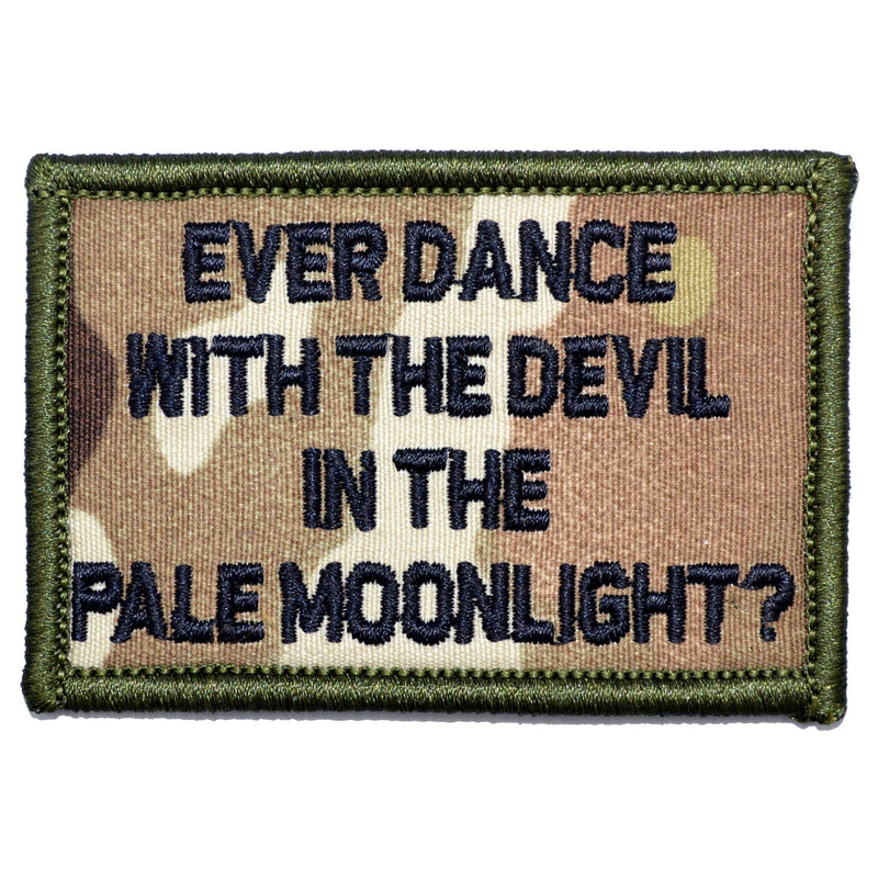 Tactical Gear Junkie Patches MultiCam Ever Dance With The Devil In The Pale Moonlight? Joker Quote - 2x3 Patch