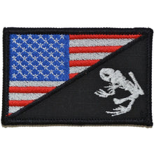 Navy Seal Frog USA Flag - 2.25x3.5 Patch