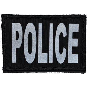 Reflective Police Patch - 2inch x 3inch