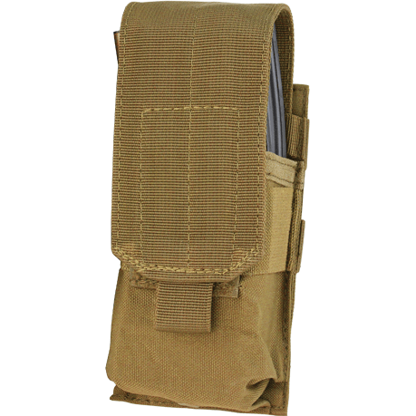 Condor Tactical Gear Coyote Brown Condor Single M4 Hook & Loop Top Mag Pouch