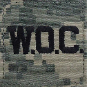 Army Rank w/ Hook Fastener Backing - ACU