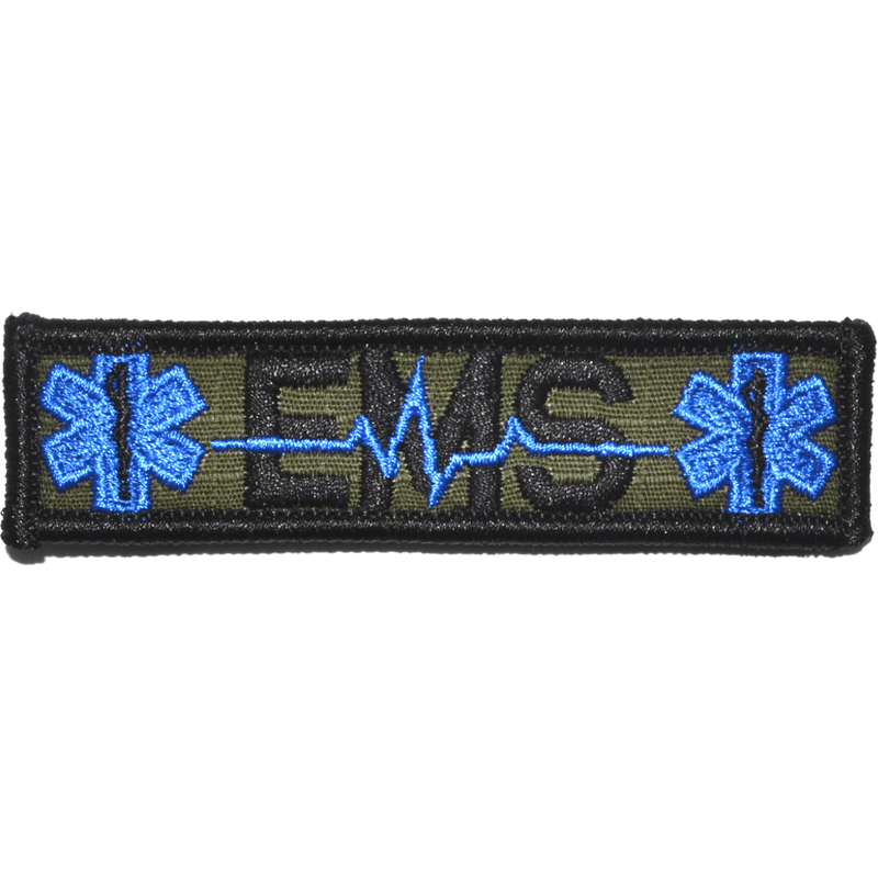EMS Heartbeat and Stars of Life- 1x3.75 Patch