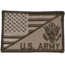US ARMY With Text USA Flag 2.25 x 3.5 inch Patch