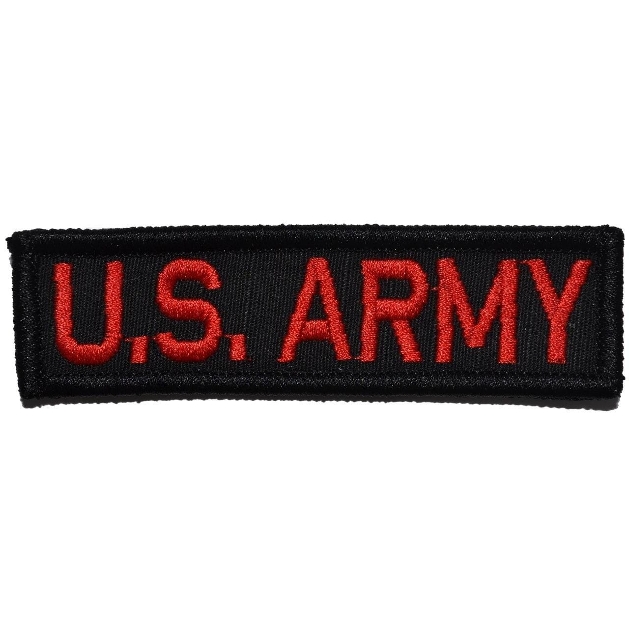 Tactical Gear Junkie Patches Black w/ Red U.S. Army - 1x3.75 Patch