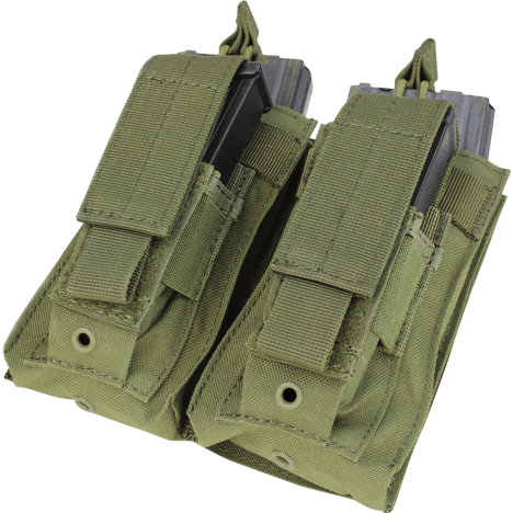 Condor Tactical Gear Olive Drab Condor Double Kangaroo Mag Pouch M4 & Pistol