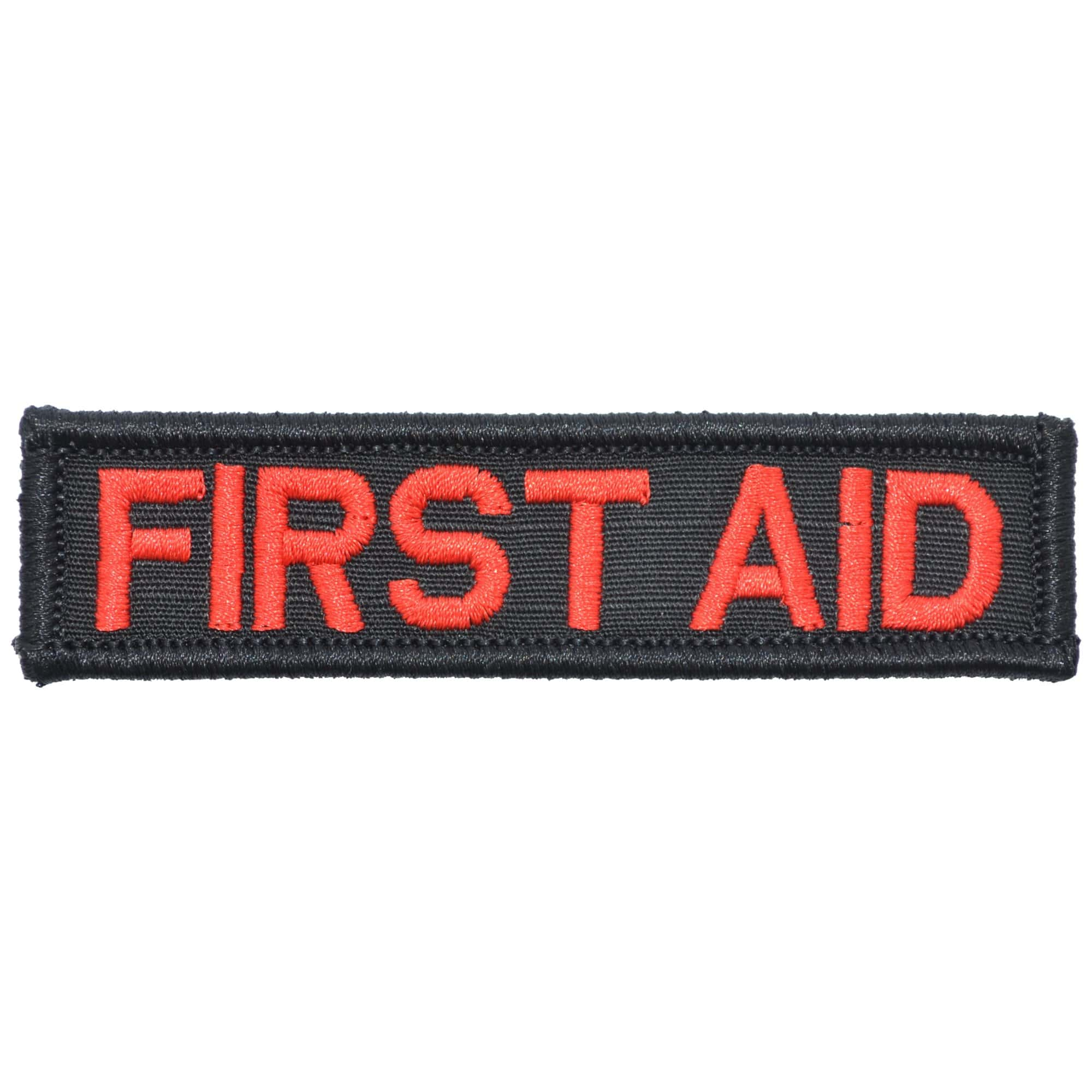 Tactical Gear Junkie Patches Black First Aid - 1x3.75 Patch