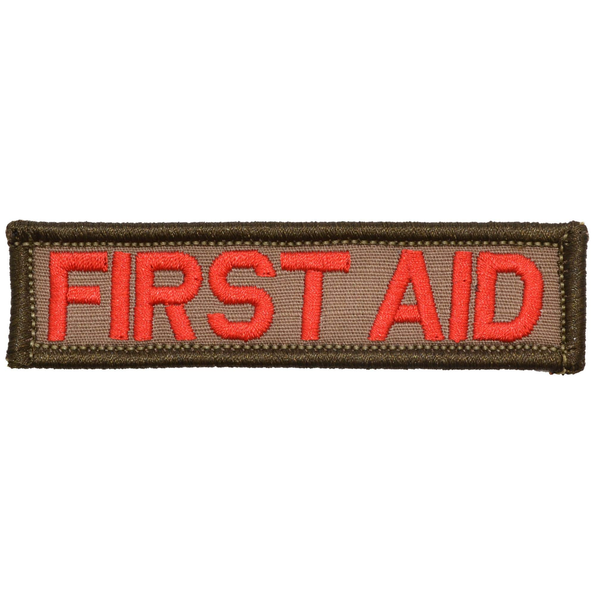Tactical Gear Junkie Patches Coyote Brown First Aid - 1x3.75 Patch