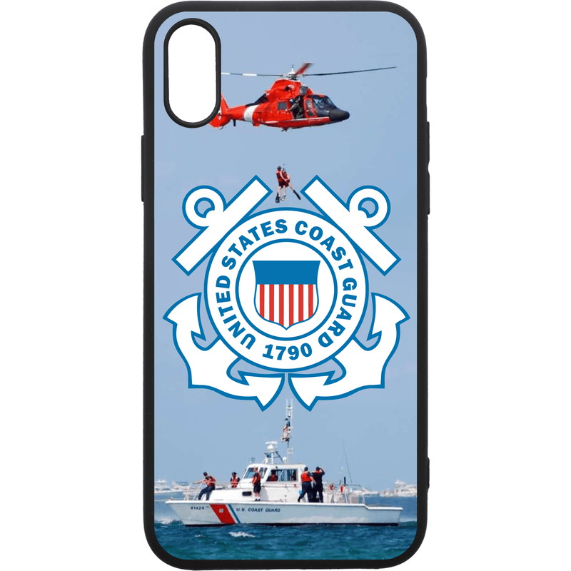 Tactical Gear Junkie Printed Accessories iPhone XS Max US Coast Guard Emblem - Smartphone Case - Choose Your Phone