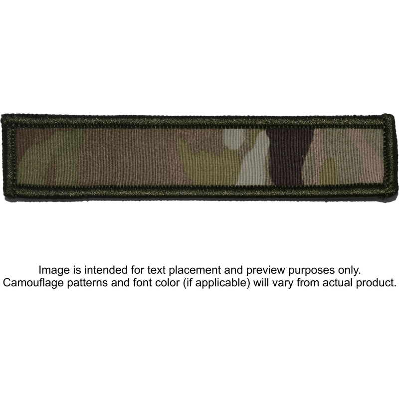 Tactical Gear Junkie Patches MultiCam Custom Text Patch - 1x5