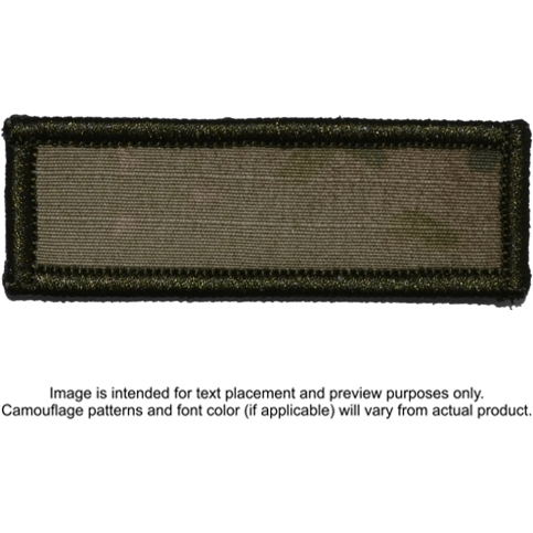 Tactical Gear Junkie Patches MultiCam Custom Text Patch - 1x3