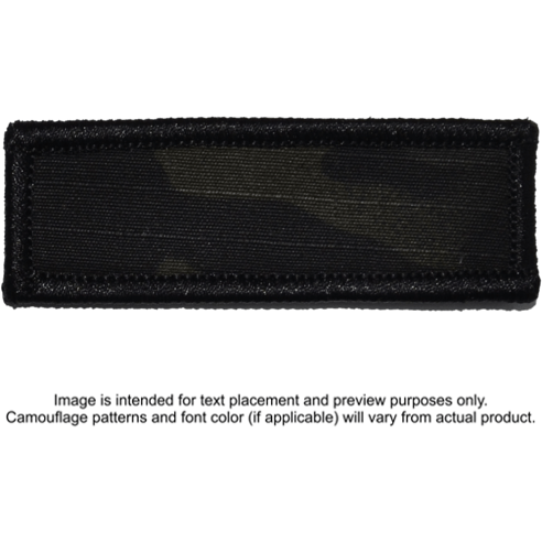 Tactical Gear Junkie Patches MultiCam Black Custom Text Patch - 1x3