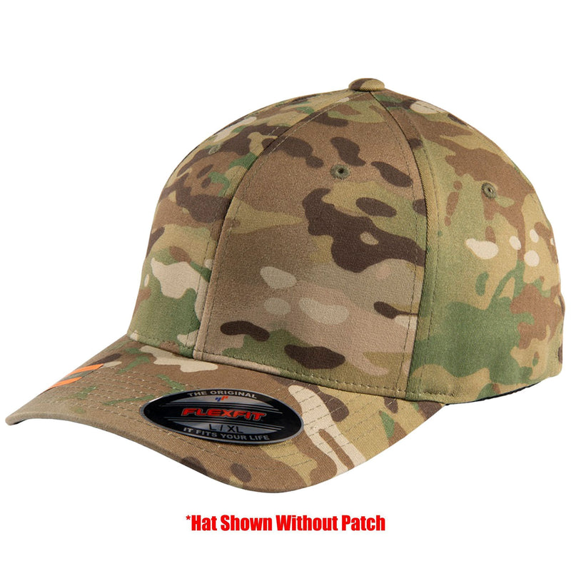 Tactical Gear Junkie Apparel MultiCam / S/M FlexFit Hat with Templar Cross Shield PVC Patch - Multiple Colors
