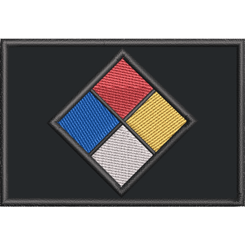 Tactical Gear Junkie Patches Custom NFPA 704 Fire Diamond - 2x3 Patch