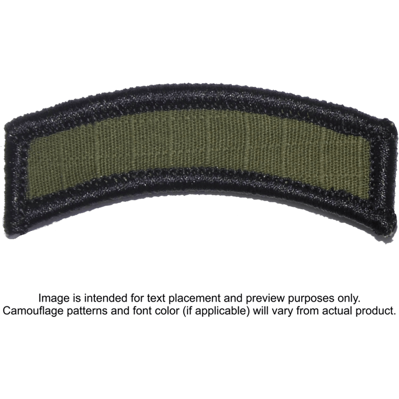 Tactical Gear Junkie Patches Olive Drab Custom Text Patch - LARGE Tab