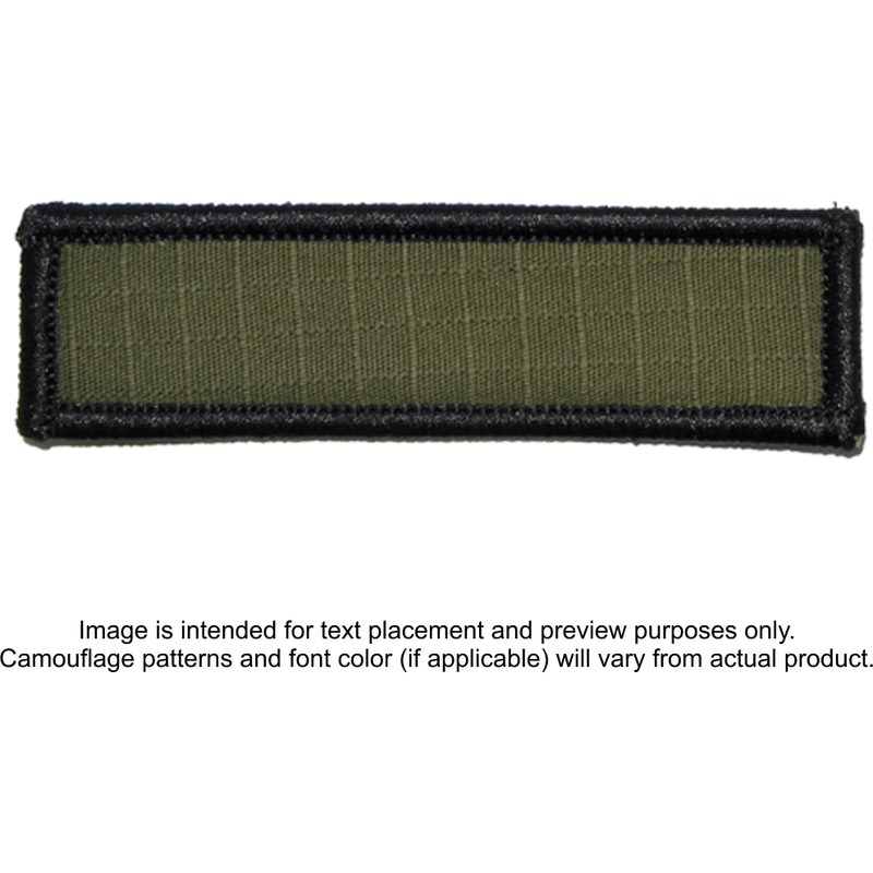 Tactical Gear Junkie Patches Olive Drab / Hook Fastener Custom Reflective Patch - 1x3.75