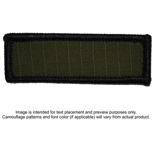 Tactical Gear Junkie Patches Olive Drab Custom Text Patch - 1x3