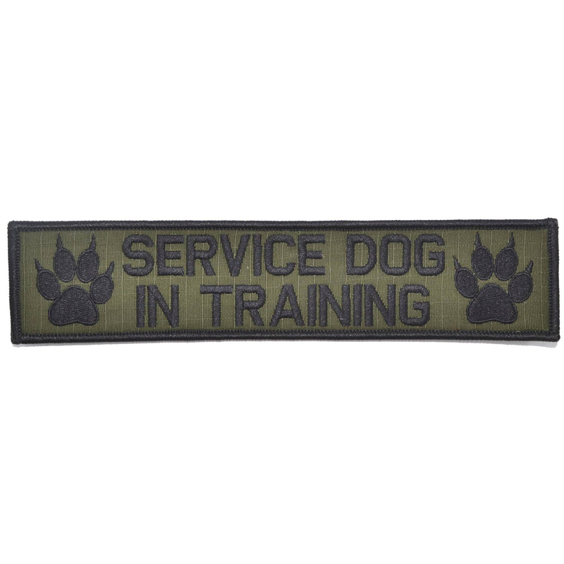 Tactical Gear Junkie Patches Olive Drab Service Dog, In Training - 2x9 Patch