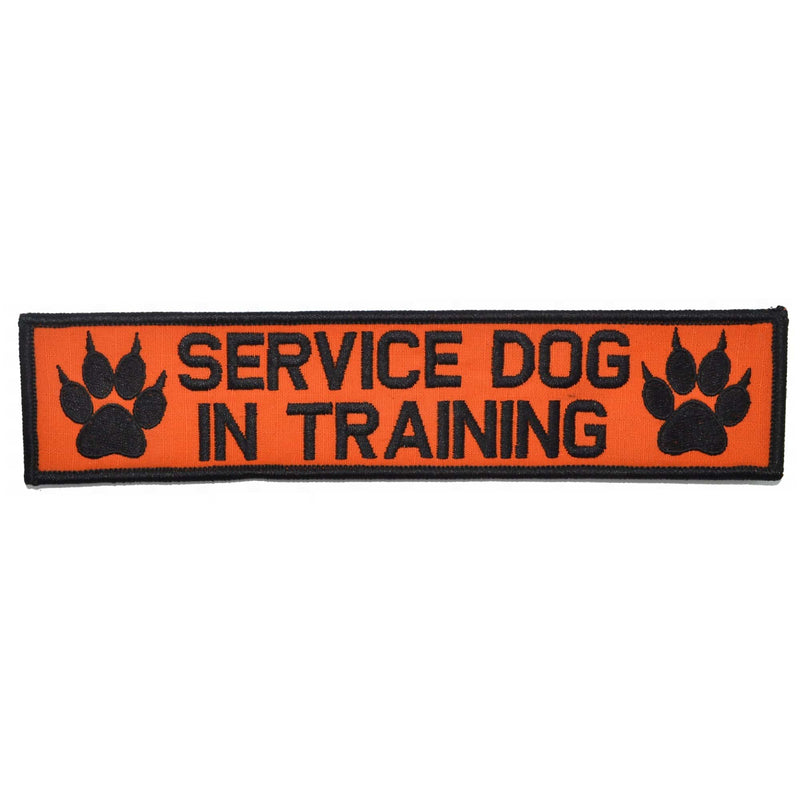 Tactical Gear Junkie Patches Orange / Black Service Dog, In Training - 2x9 Patch