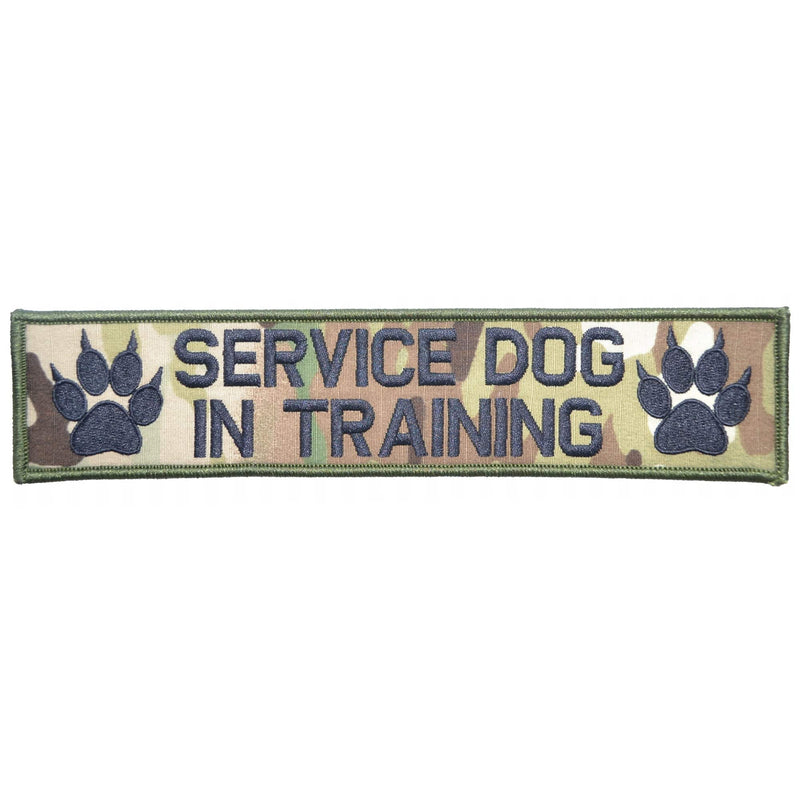 Tactical Gear Junkie Patches MultiCam Service Dog, In Training - 2x9 Patch
