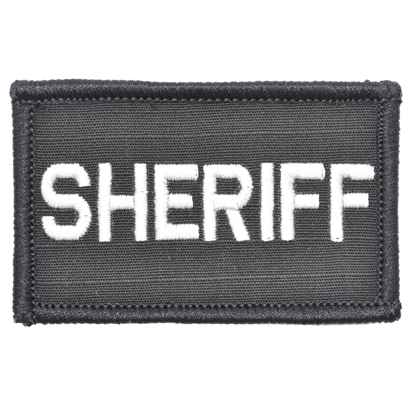 Tactical Gear Junkie Patches Black Sheriff - 2x3 Patch