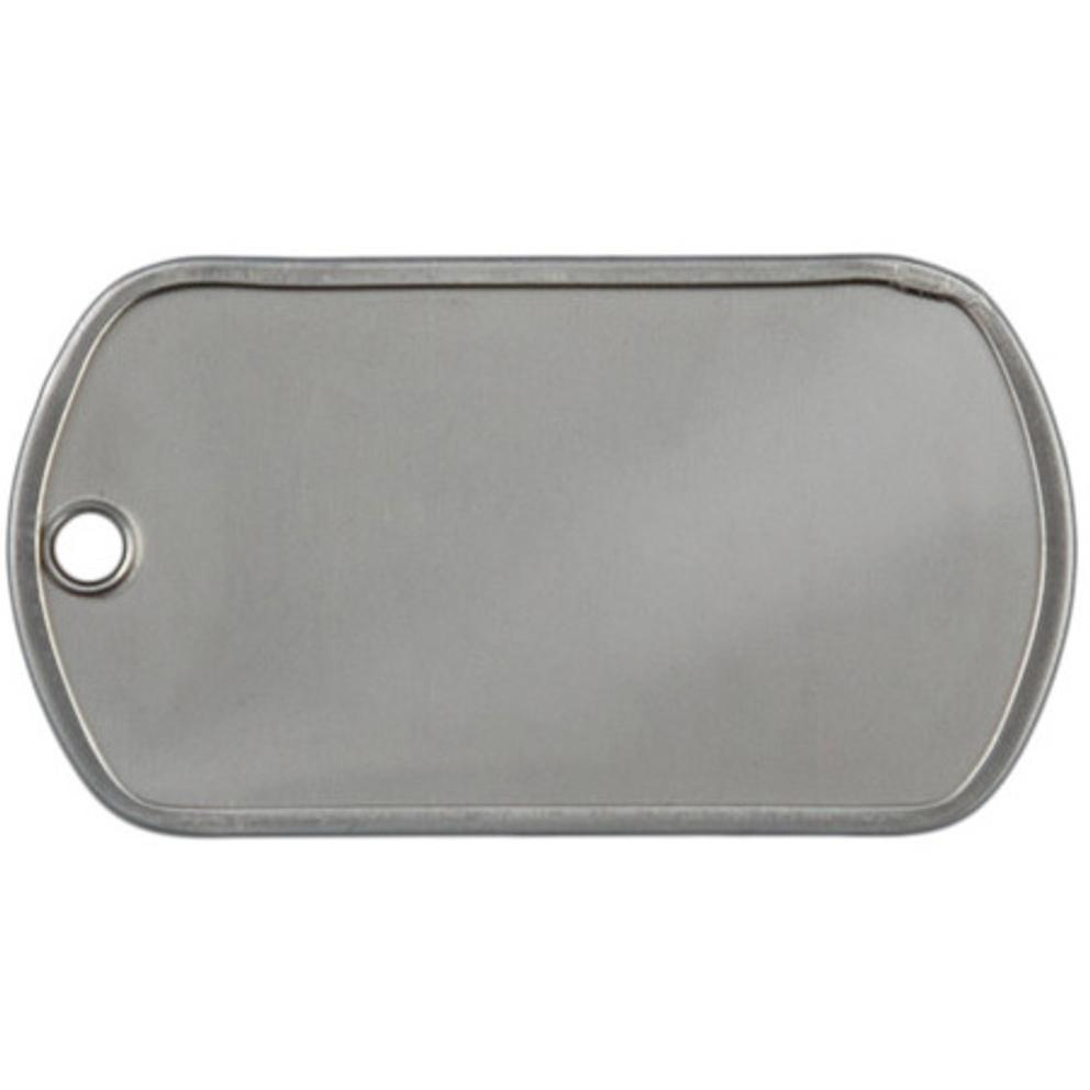 custom embossed military style dog tags stainless steel