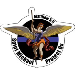 Saint Michael Protect Us Sticker - 3.5 inch