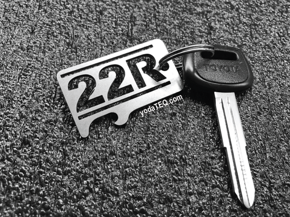 22R TOYOTA  - Stainless Steel Keychain Bottle Opener