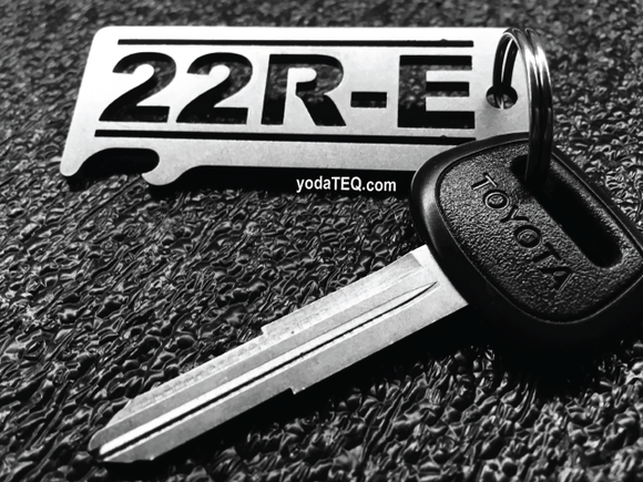 22R-E TOYOTA  - Stainless Steel Keychain Bottle Opener