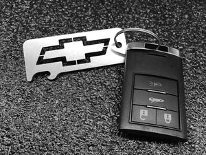 CHEVROLET / CHEVY BOWTIE - Stainless Steel Keychain Bottle Opener