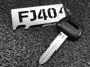 TOYOTA FJ40 - Stainless Steel Keychain Bottle Opener