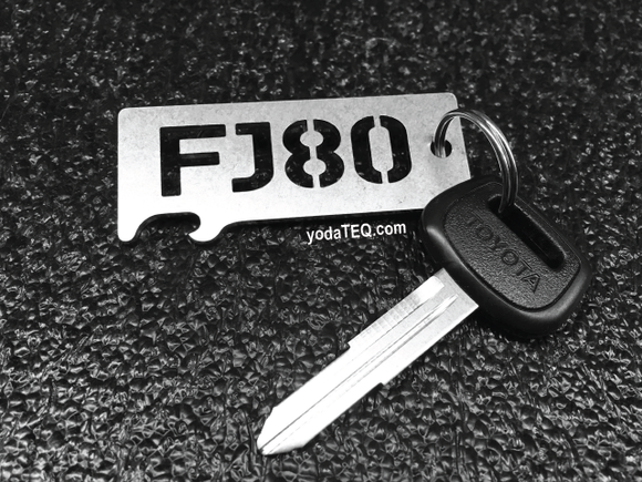TOYOTA FJ80 - Stainless Steel Keychain Bottle Opener