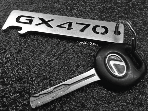 LEXUS - GX470 - Stainless Steel Keychain Bottle Opener
