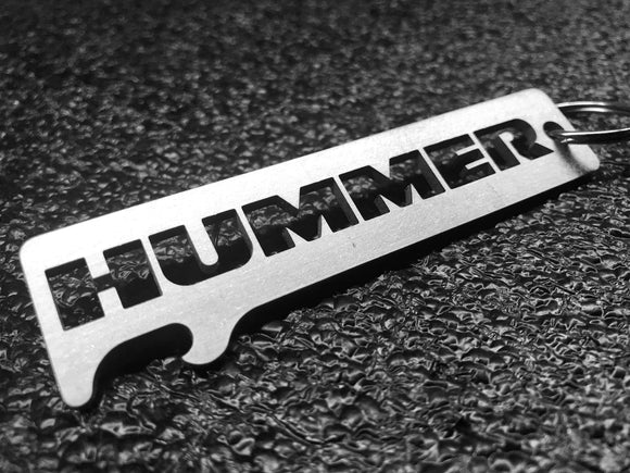 HUMMER - Stainless Steel Keychain Bottle Opener