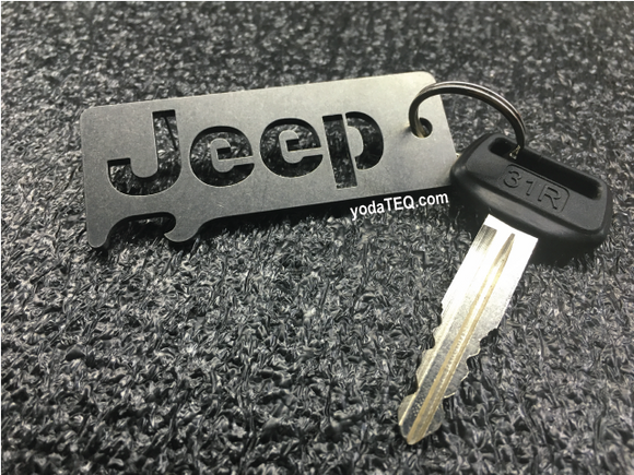 JEEP - Stainless Steel Keychain Bottle Opener